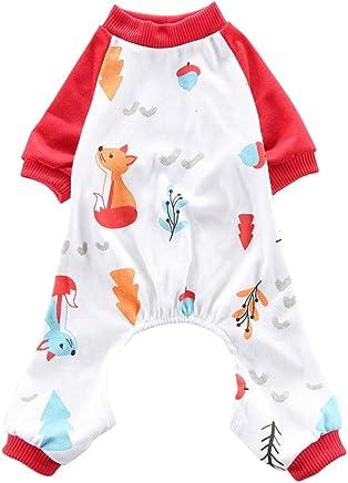 Handfly Pijamas para perros Monos Ropa de algodón para cachorros Pijamas para cachorros Ropa para mascotas