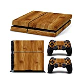 Gam3Gear Vinyl Sticker Pattern Decals Skin for PS4 Console & Controller (NOT PS4 Slim / PS4 Pro) - Light Brown Bamboo Wood