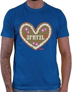 HARIZ Herren T-Shirt Lebkuchenherz Spatzl Oktoberfest Lederhosn Plus Geschenkkarten