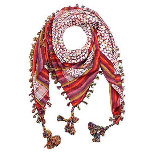 Superfreak Palituch premium multicolor 02 - weiß - Fransen & Toddeln multicolor - 100x100 cm - Pali Palästinenser Arafat Tuch - 100{1e397ba6feae195c40726ac1b7a137382e55a7548f1b9af74ef9ff2af0b78303} Baumwolle