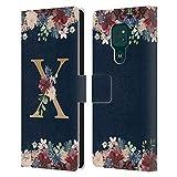 Head Case Designs sous Licence Officielle Nature Magick Letter X Monogramme Florale Or Navy 2 Coque...