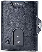 VON HEESEN® Slim Wallet mit Münzfach I Kartenetui mit RFID Schutz I bis 12 Karten I Mini Portemonnaie Leder I Geldbörse...