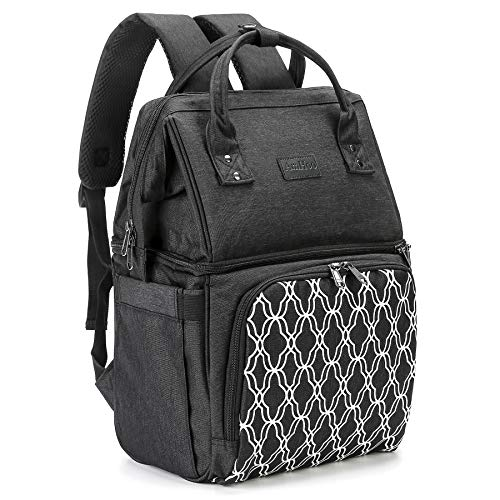 AmHoo Insulated Lunch Box Cooler Backpack Waterproof Leak-proof Lunch Bag Tote For Men Women Hiking Beach Picnic Trip with Strongest YKK Zipper Black