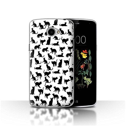 Stuff4® - Funda para teléfono móvil con diseño de Dibujos Animados Ich Liebe Katzen LG K5/X220