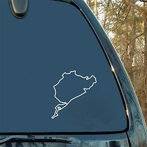 Car Decal Car Sticker Funny Nurburgring Map Pattern Car Stickers Decorative Arts Car Sticker for Car Laptop Window Sticker