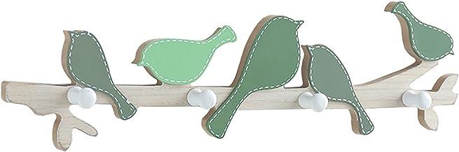 Memea Creatieve houten vogel kledinghaak pastorale muur kleerhanger decoratief voor woonkamer slaapkamer