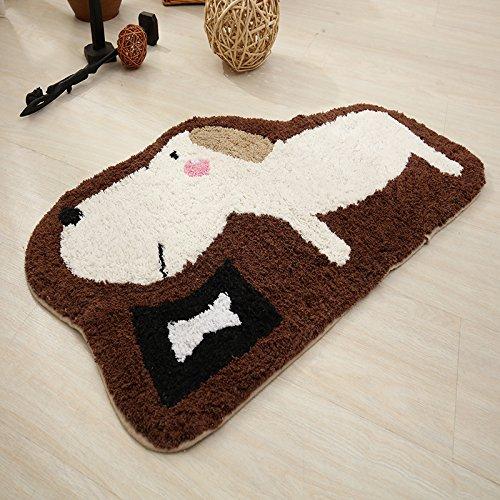 GRENSS 100% Baumwolle Teppiche Cartoon Eingang Fußmatte Kinderzimmer Teppiche Anti-Skid Matte für Schlafzimmer/Küche/Bad Dekorative Teppiche, 03,500 mm x 800 mm