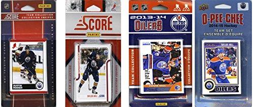 C & I Collectables NHL Edmonton Oilers 4 Verschiedene lizenzierte Sammelkarten-Team-Sets, Braun, Einheitsgröße