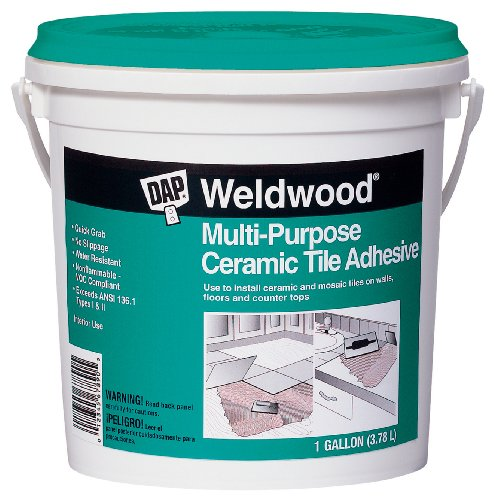 DAP 7079825192 Mp Ceramic Tile Adh Gal Raw Building Material, Gallon, Off-White