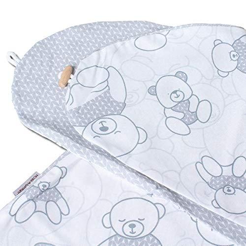 Cuscino per allattamento per cuscini per allattamento 190 cm in diversi colori e disegni di HOBEA-Germany, modello: Bears/grigio