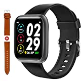 Fullmosa Smart Watch, Fitness Tracker Watch with Heart Rate Monitor, IP68 Waterproof Pedometer Smartwatch Compatible with iOS, Android, iPhone, Samsung, Sport Watch for Men Women