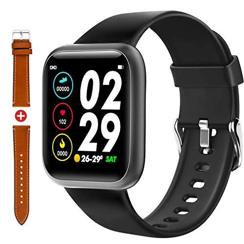 Fullmosa Smart Watch, Fitness Tracker Watch with Heart Rate Monitor,Compatible for Android iPhone,IP68 Waterproof Pedometer Smartwatch,Sleep Monitor,Calorie Counter ,Sport Watch for Women Men