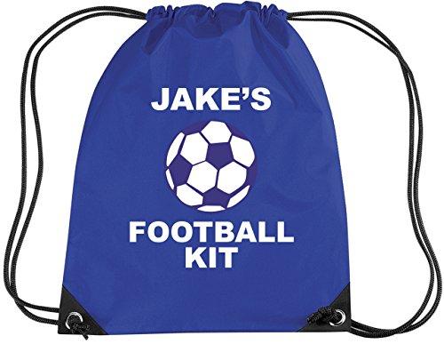 Mochila para fútbol, azul real, personalizable-