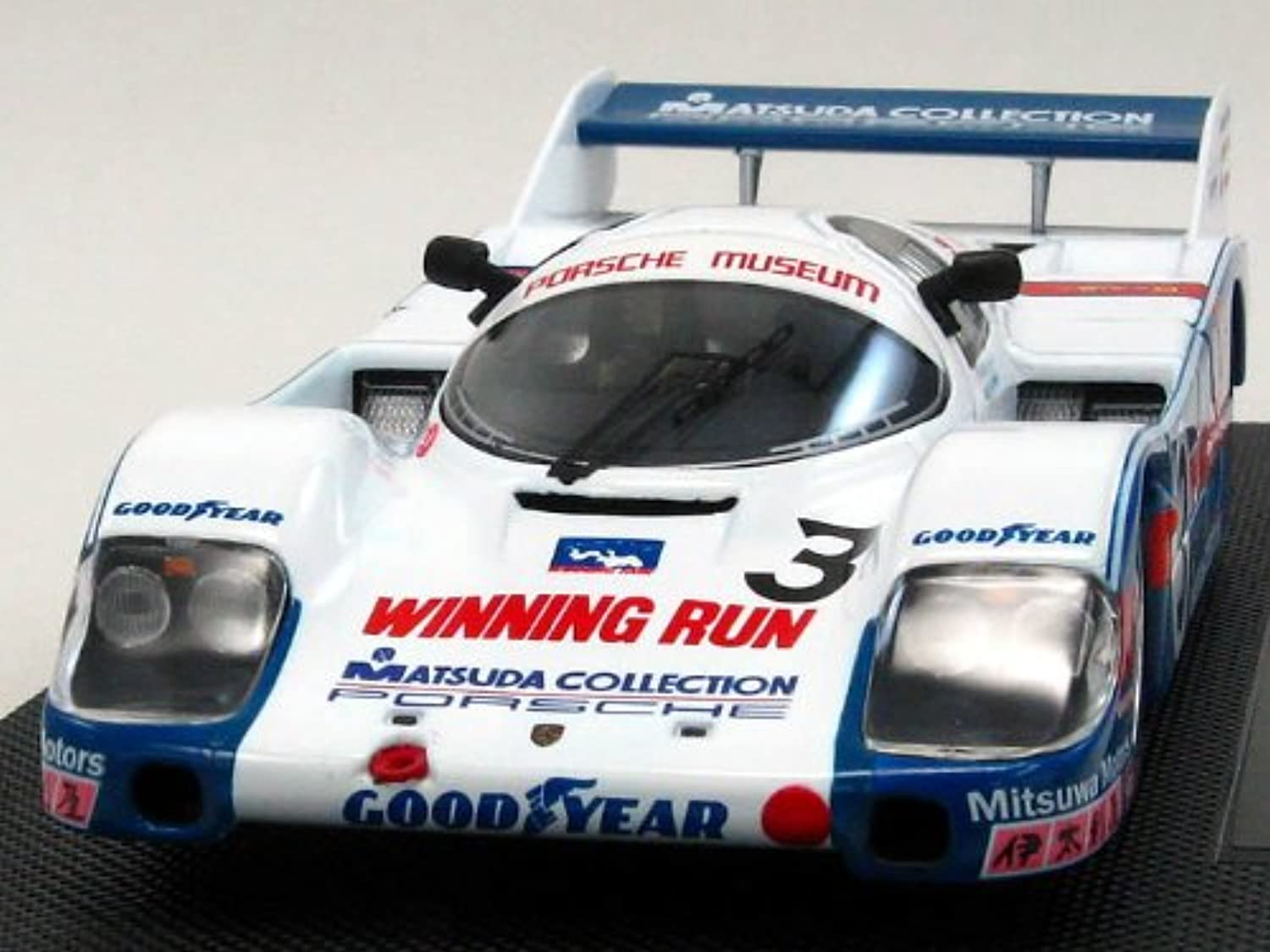 EBBRO 1 43 Mazda collection Porsche 956 winning run WEC Fuji 1983 White   blueee (japan import)