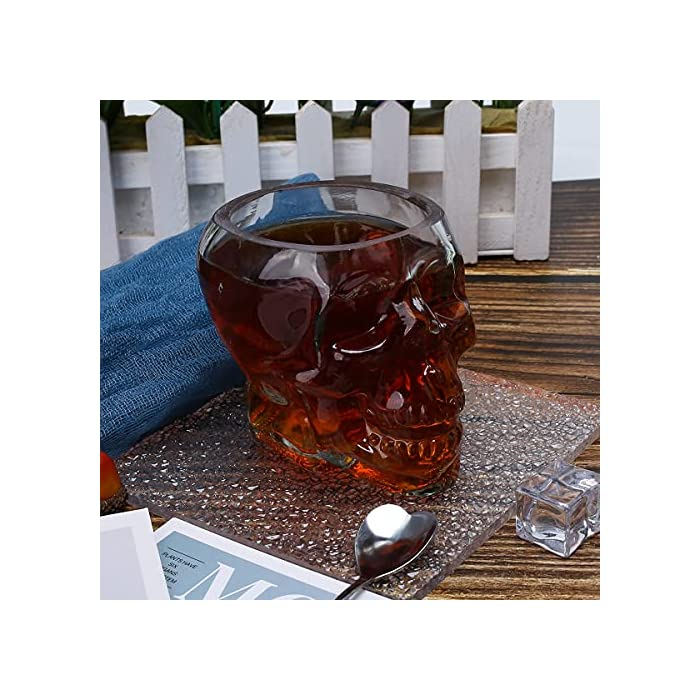 Glow Castle Creative Skull Glass Creative Skull Cup Vodka Spirits Cup Glass New Crystal Skull Cup 300ml