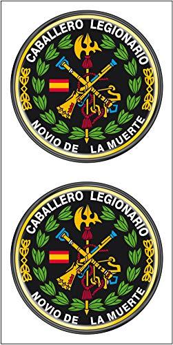 Artimagen Pegatina círculo Logo legión Color y Laurel 2 uds. Resina ø 33 mm/ud.