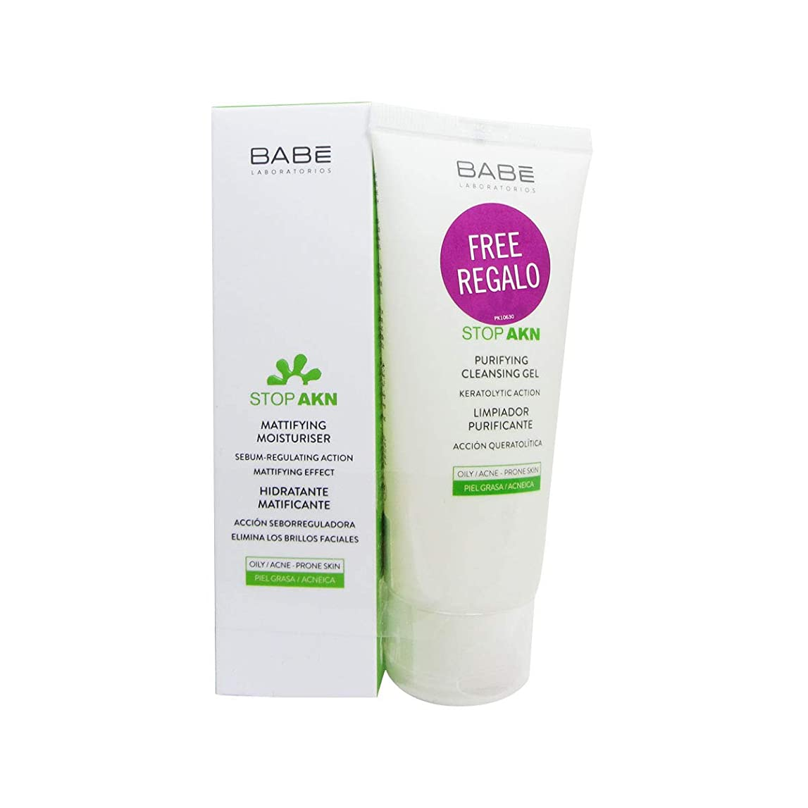 睡眠カスケードヒューズBabe Stop Akn Moisturizing Regulator Pack 50ml + Cleansing Gel 100ml [並行輸入品]