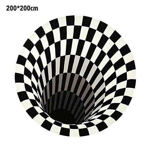 PITCHBLA 3D Carpet Optical Illusion Rugs, Sofa Round Blanket...