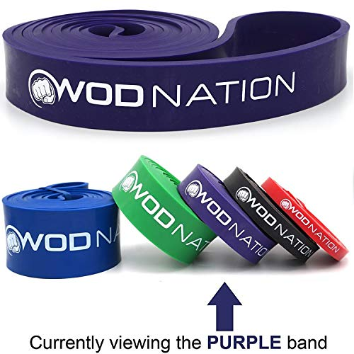 WOD Nation Pull up Assistance Bands Best for Pullup Assist, Chin Ups, Resistance Band Exercise,...