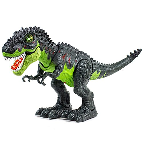 Toysery Tyrannosaurus T-Rex Walking Dinosaur with Lights and Realistic Sounds,...