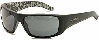 Arnette Hot Shot Adult Sunglasses - Fuzzy Black with Grey Graphics Inside