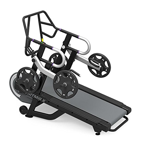 StairMaster HIITMill Self-Powered Incline Treadmill with Farmers Carry Lift Arms - Non-Motorized Treadmill for High Intensity Interval Training HIIT Workouts