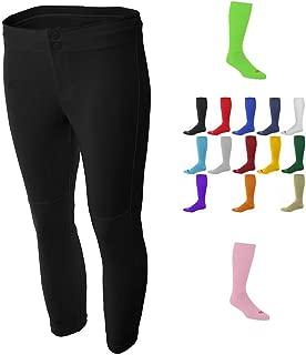 Combo Womens Black Softball/Baseball Pants & Socks (15