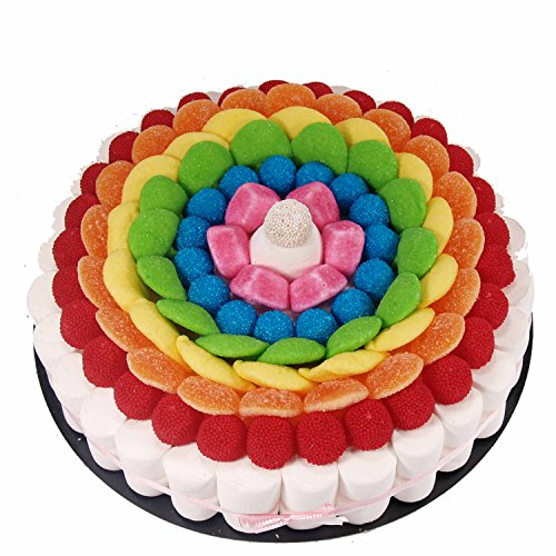 Tarta de golosinas -Rainbow 27 cm