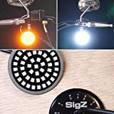 ROGUE RIDER INDUSTRIES - Front Motorcycle LED Turn Signals With Bright White Running Lights - BLACK LABEL SPECIAL EDITION - 1157 LED - Motorcycle LED Lights -Motorcycle Lights for SigZ Harley Davidson