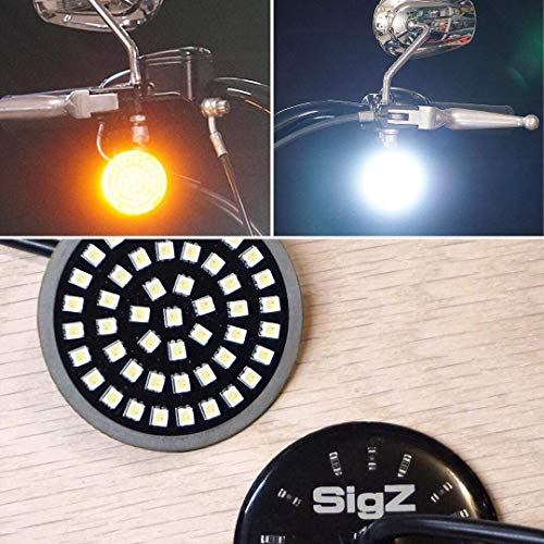 ROGUE RIDER INDUSTRIES - SigZ Harley Davidson Front Motorcycle LED Turn Signals With Bright White Running Lights - BLACK LABEL SPECIAL EDITION - 1157 LED - Motorcycle LED Lights - Motorcycle Lights