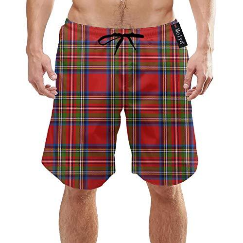 Alysai- Bañador clásico estilo bermudas, en cuadros escoceses
