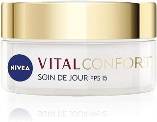 NIVEA Vital Soin de Jour Confort & Nutrition FPS15 (1 x 50 ml), crème anti-âge enrichie en Huile de Pépins de Raisin, soin...