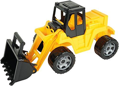 Lena 02048 - Starke Riesen Schaufellader, Radlader ca. 64 cm, Giga Truck in gelb und schwarz, Ladeschaufel mit Bediengriff, Ladefahrzeug für Kinder ab 3 Jahre