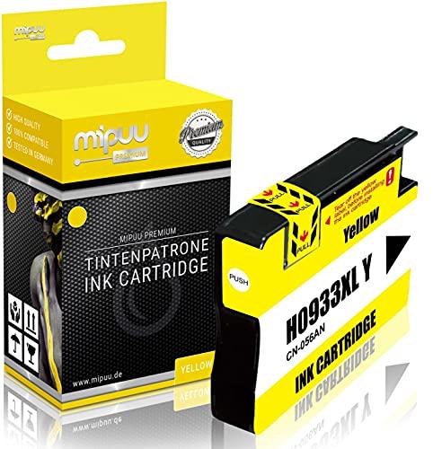 Mipuu Tinta Compatible HP 933XL CN056AE (Yellow) para HP Officejet 6100 6600 6600E 6700 7110 7110 7510 7510A 7510 Wide 7610 7610AIO 7612-16ml