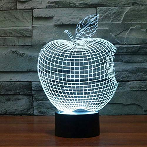 Creativa fruta acrílico noche luz 3D lámpara de mesa LED decoración dormitorio salón regalo vacaciones