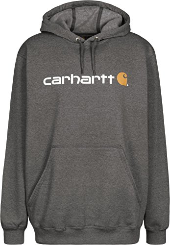 Carhartt Herren Signature Logo Midweight Sweatshirt Sweater, Carbon Heather, M