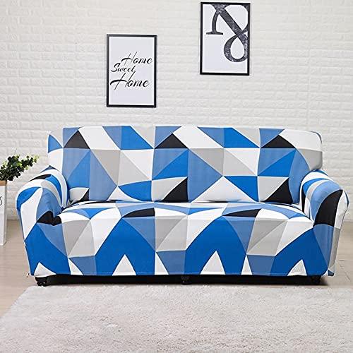 WXQY Funda de sofá elástica Estampada con patrón geométrico Funda de sofá de Esquina Funda de Chaise Longue Funda de sofá Antideslizante A7 1 Plaza
