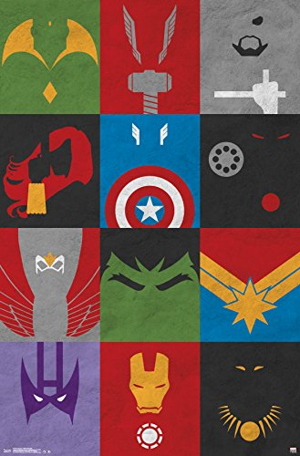 Trends International Avengers Minimalist Grid Wall Poster 22.375' x 34'