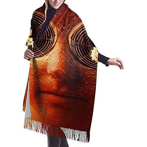Elaine-Shop Tassel Scarf Porcupine Tree wallpaper Damen Furry Oversized Scarf Langer Schal Wraps Große Schals Geschenke