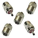 AERZETIX: 5 x Conectores Enchufe UHF PL-259 Macho para Cable RG213