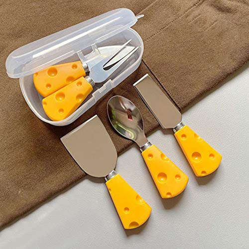 wenhe - Juego de cuchillos para queso (2 unidades, 3 unidades, 4 unidades, 5 unidades, acero inoxidable)