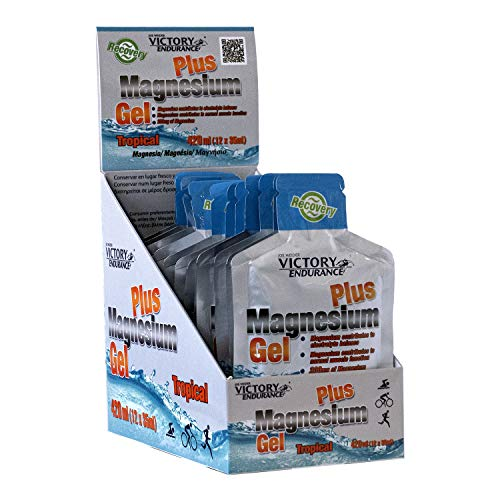 Victory Endurance Magnesium Gel Plus 35ml x 12 geles. El Magnesio evita calambres musculares. Con un plus de Potasio para potenciar sus efectos.