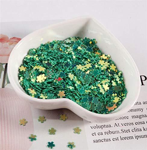 10g roze Sakura Glitter pailletten Confetti DIY Craft Stuff 5mm zoete blauwe kersenbloesem UV hars Decor sieraden vulling Paillettes, JG donkergroen