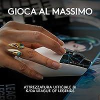 Logitech G305 K/DA LIGHTSPEED Mouse Gaming Wireless, Attrezzatura Ufficiale di League of Legends, Sensore HERO, Leggero, Tasti Programmabili, Autonomia 250h, Memoria Integrata - Bianco #1