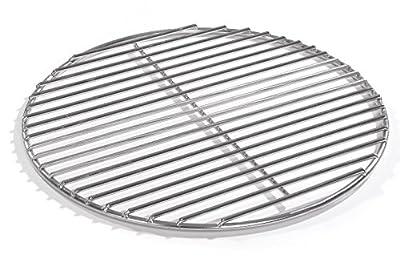 60cm Grill rund Edelstahl, Kugelgrill, 4mm Stäbe Grillrost V2A für Feuerschalen Grillschalen Rundgrill