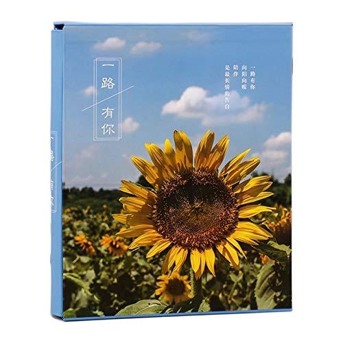 JWWLLT Álbum de Fotos Scrapbook Album 4x6 200 Pocket de 7 Pulgadas Álbum de Fotos de Fotos de Dibujos Animados de Dibujos Animados (Color : Yellow)