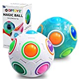 DPTOYZ Rainbow Puzzle Ball Fidget Toy Color-Matching Puzzle Game Fidget Balls Stress Reliever Magic Cube Toys Brain Teaser for Children/Teens/Adults - 2 Pack