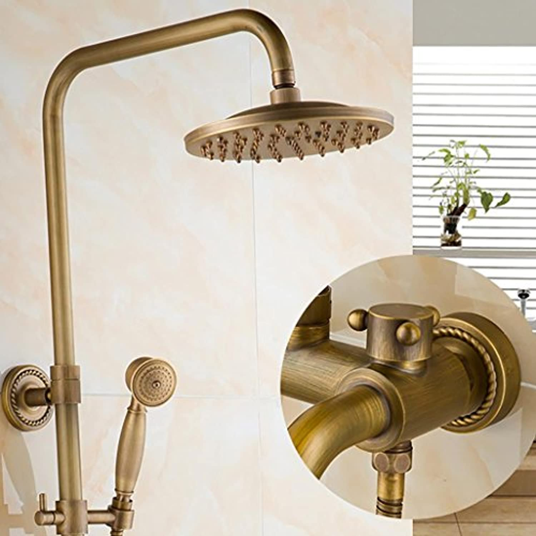 G&Z Dusche Wasserhahn Bad & Dusche Wasserhahn Set Wand montiert Messing Regen Dusche Set, a
