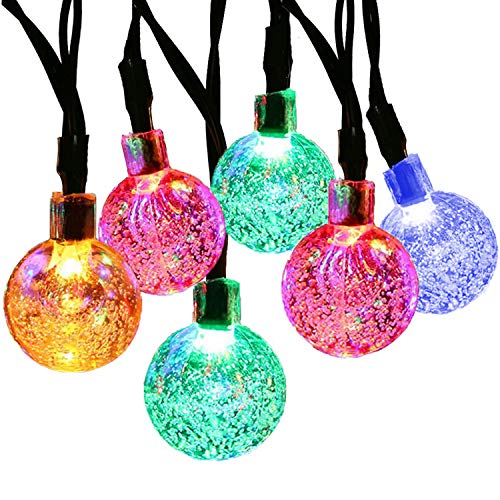 LETTON Solar String Lights Waterproof Outdoor 30 LED 21FT 8-in-1 Mode for Home...