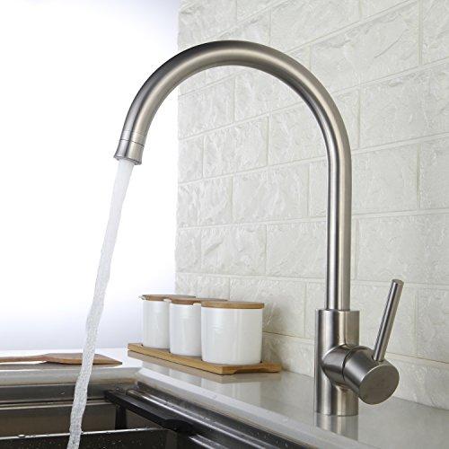 Homelody - Küchenarmatur mit unterschiedlicher Brausefunktion, 360° schwenkbar, Chrom